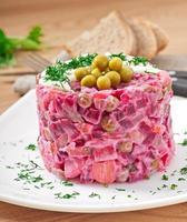 salada com beterraba foto