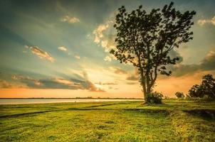 paisagem do nascer do sol foto