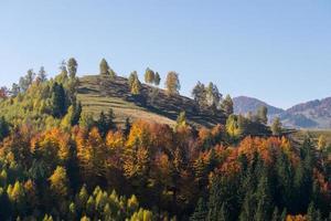 paisagem de outono de montanha