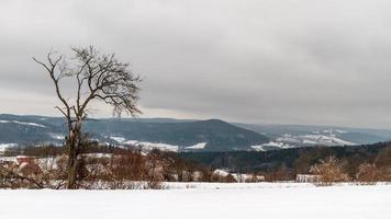 paisagem de inverno da Baviera foto