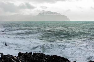 na tempestade, paisagem foto