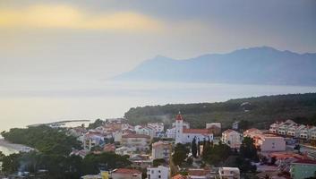 paisagem costeira, croácia