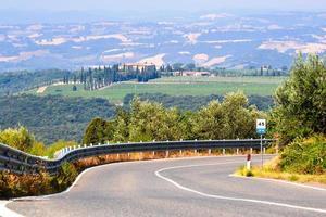 bela paisagem toscana foto