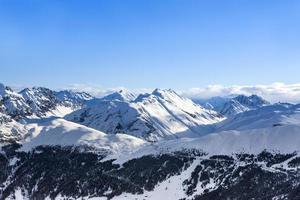 paisagem de montanha dos Alpes