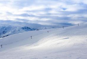 paisagem de montanha dos Alpes foto