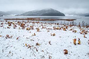 paisagem de inverno china foto