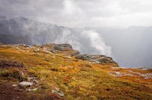 paisagens nas montanhas. Noruega