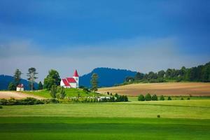 paisagem rural na eslováquia foto