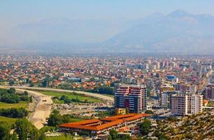 a paisagem da albânia foto