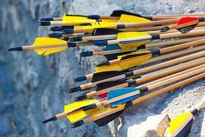 flechas de madeira foto