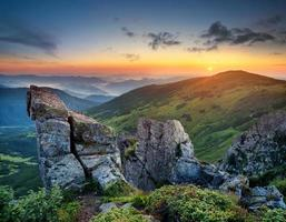 paisagem montanhosa foto