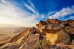 panorama da paisagem de montanha foto