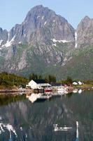 paisagem pitoresca da zona rural da Noruega