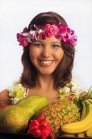 retrato de uma menina havaiana foto