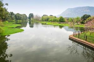 paisagem da vila de nacionalidades de yunnan