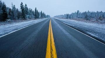 estrada de inverno foto