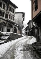 rua de inverno foto