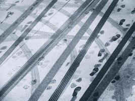 tráfego de inverno foto