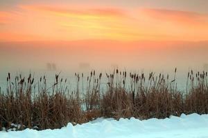 nascer do sol de inverno