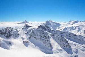 paisagem de inverno no matterhorn foto