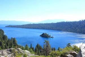 paisagem do parque nacional de lake tahoe foto