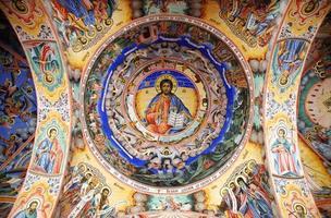 jesus fresco mosteiro de rila foto
