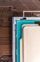 processador do computador no soquete foto