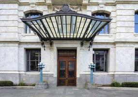entrada da casa do tribunal do bairro francês de nova orleans foto
