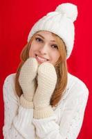 menina de beleza do inverno foto