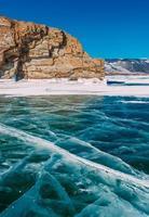inverno congelado baikal foto
