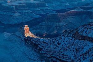 nascer do sol de inverno no grand canyon