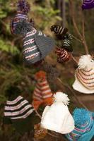 bonés artesanais quentes de inverno. foto