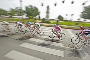 corrida de bicicleta foto