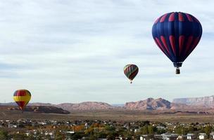 corrida de balão de ar quente foto