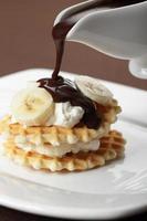 waffle com banana