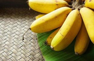 banana em bambu foto