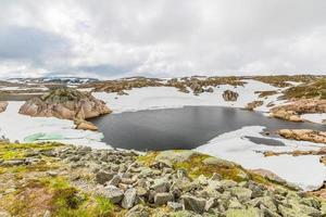 lago de montanha na noruega