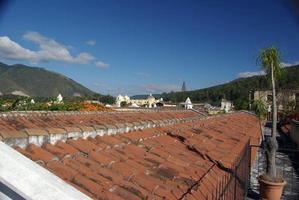 telhados em antigua, guatemala