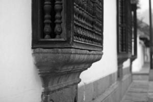 detalhe da rua antigua foto