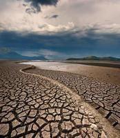 leito de lago seco