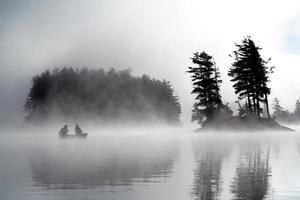 manhã do lago saranac foto