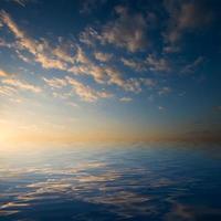 lago e céu