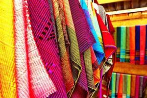 tecido nativo tailandês em chiangmai