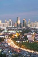 paisagem urbana de jacarta foto