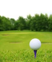 bola de golfe em curso foto