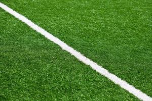 linha de campo de futebol foto
