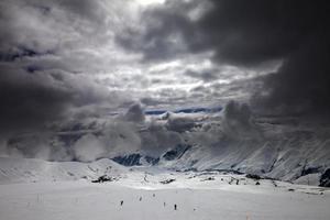 pista de esqui antes da tempestade