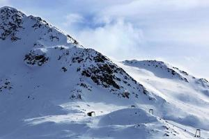 pista de esqui nos Alpes austríacos