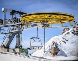 roda do elevador de esqui