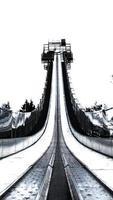 corrida de salto em esqui foto